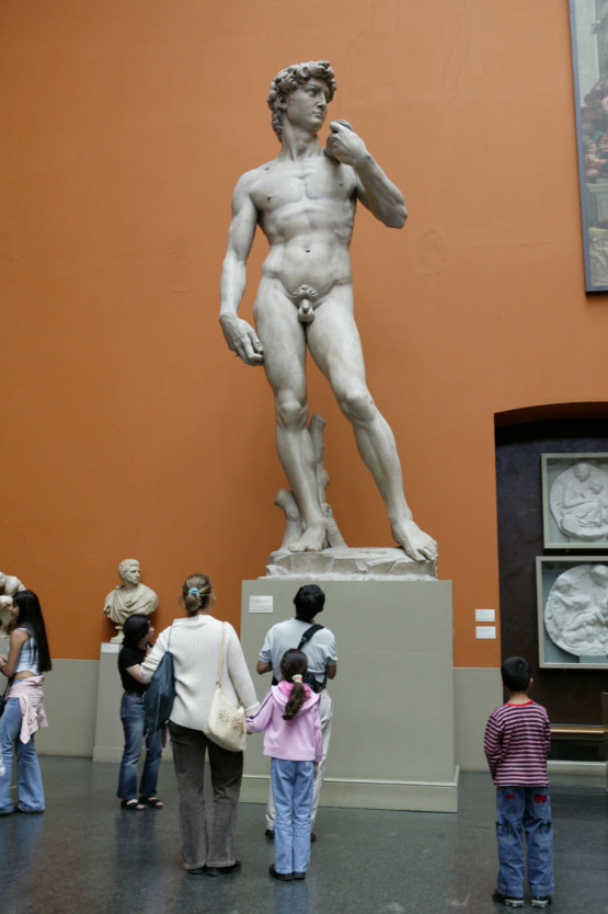 Cast of Michelangelo's David, 21st century © Victoria and Albert Museum, London